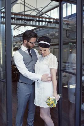 Mod style wedding