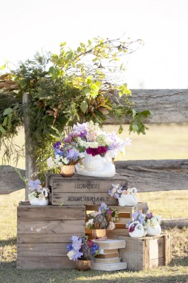 Modern country wedding ceremony idea