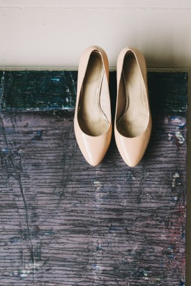 Nude wedding pumps