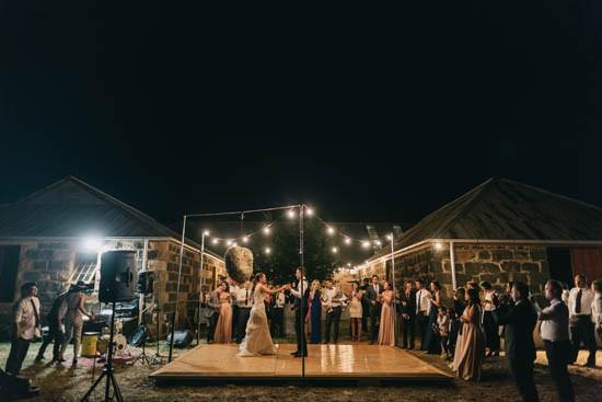 Outdoor wedding dance floor