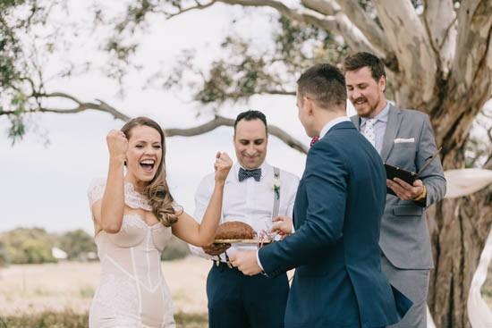 Polish shots at Australian wedding