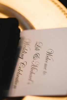 Printed wedding manu