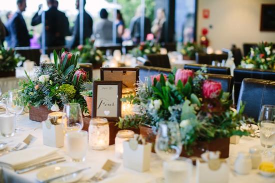 Protea wedding centrepieces