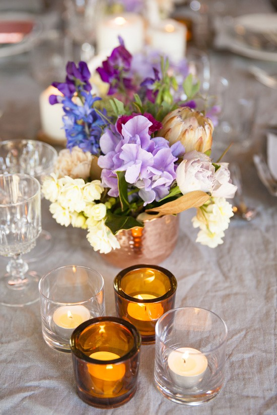 Purple and amber wedding