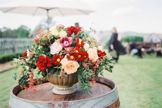 Raisin and beach floral arrangement