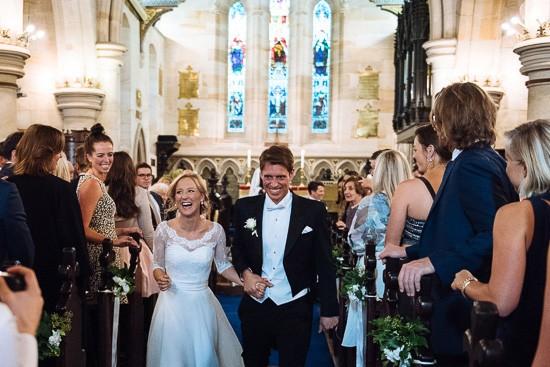 Recessional at Sydney church wedding