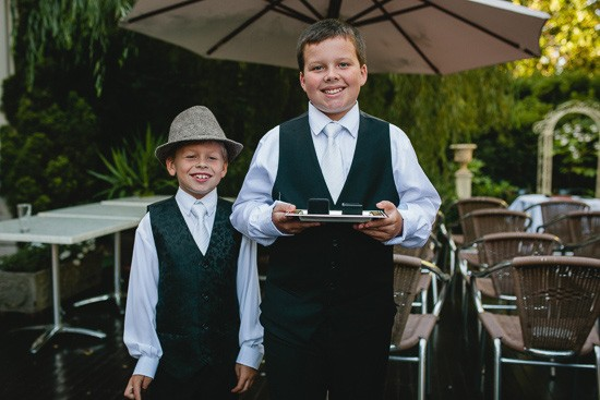 Ring bearers at Melbourne wedding