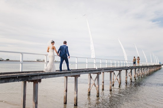 Sorrento Pier Wedding Photo