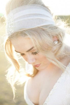 Tulle wedding hair band
