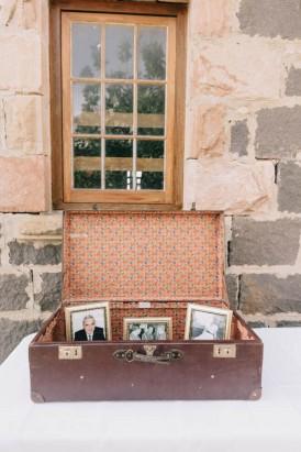 Vintage suitcase wedding decor