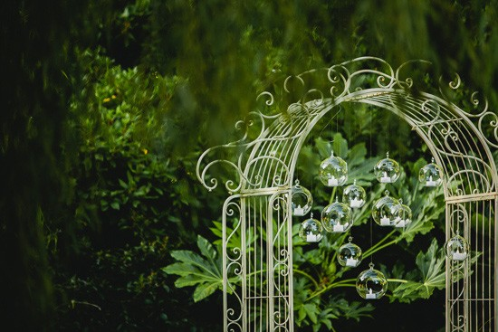 Wedding arbour with candle balls