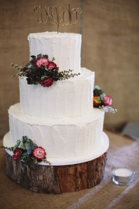 Wedding cake with Australian natives
