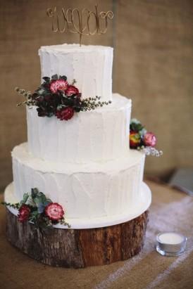 Wedding cake with Australian natives