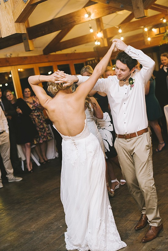 Wedding dance as newlyweds