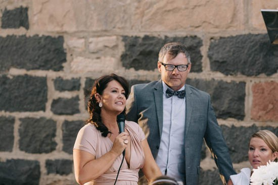 Wedding speeches at Country wedding
