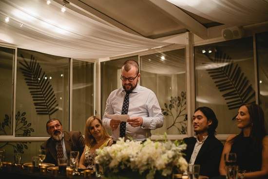Wedding speeches at The Willows