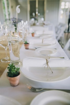Wedding tablescape with succulents