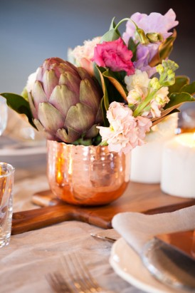 Wedding vases made of copper