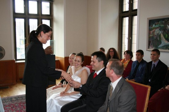 Amanda Kendle Civil ceremony in town hall
