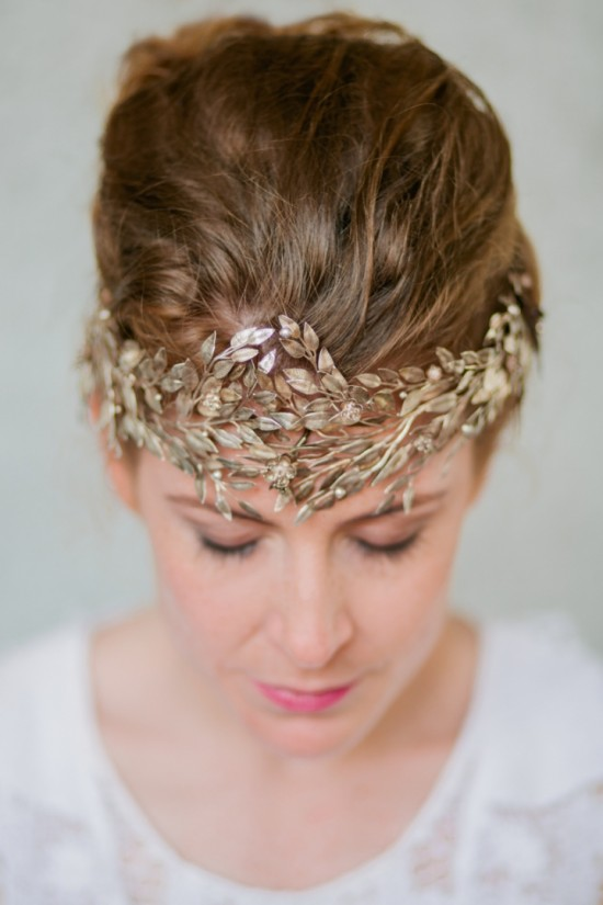 Bride with gold crown