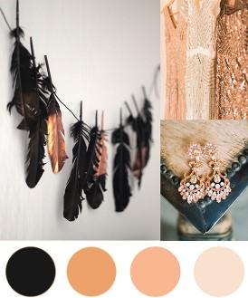 Rose Gold & Black Inspiration Board
