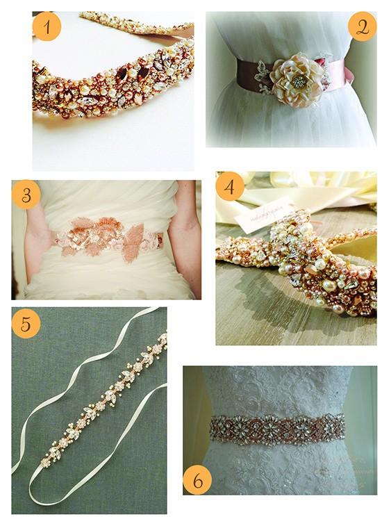 Rose Gold Bridal belts