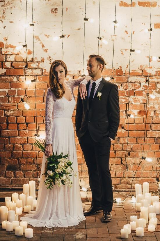 Industrial Candlelit Wedding Inspiration001