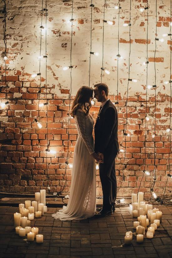 Industrial Candlelit Wedding Inspiration039