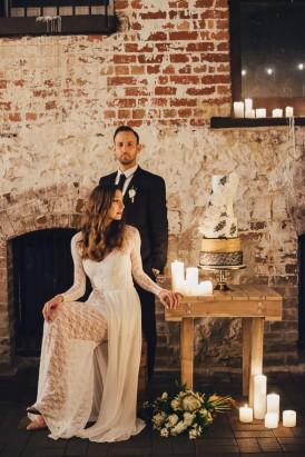 Industrial Candlelit Wedding Inspiration051