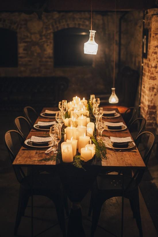 Industrial Candlelit Wedding Inspiration057