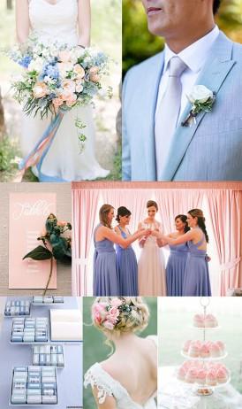 Seenity Blue and Rose Quartz Wedding
