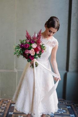 Sweet Vintage Valentines Wedding Inspiration027