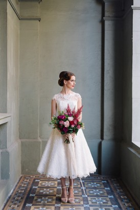 Sweet Vintage Valentines Wedding Inspiration028