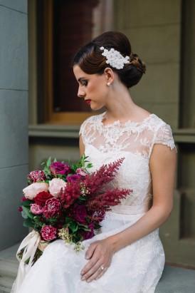 Sweet Vintage Valentines Wedding Inspiration055