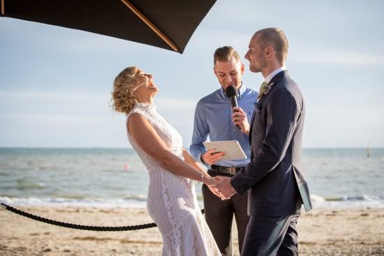 melbournes celebrants benn stone beaches wedding