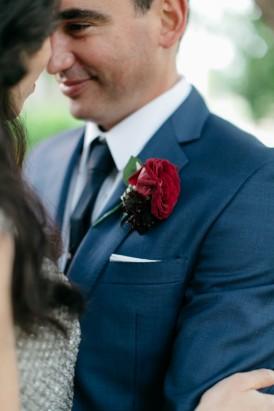 Calibre deep blue wedding suit