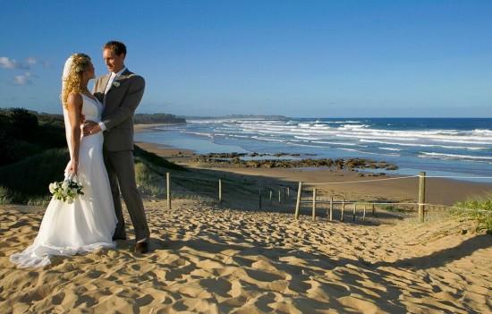 Darryn beach wedding
