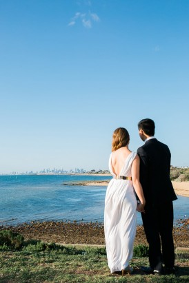 Modern Beachside Engagement Photos012