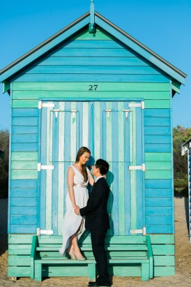 Modern Beachside Engagement Photos043