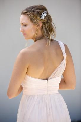 Pale pink asymmetrical gown