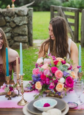 Playful Gemstone Inspired Bridesmaid Luncheon078