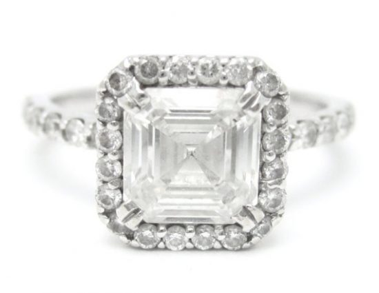 Asscher Diamond Cut Ring