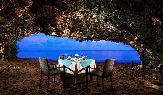 In cave dining