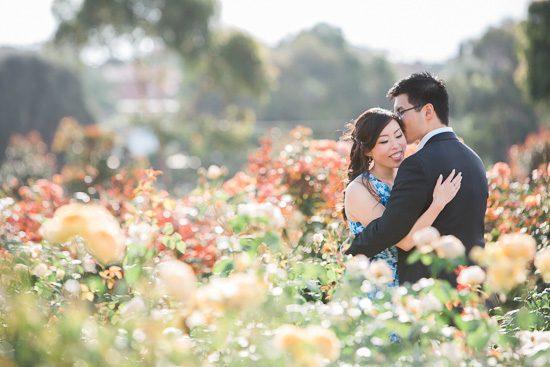 Victoria Rose Garden Engagement Shoot