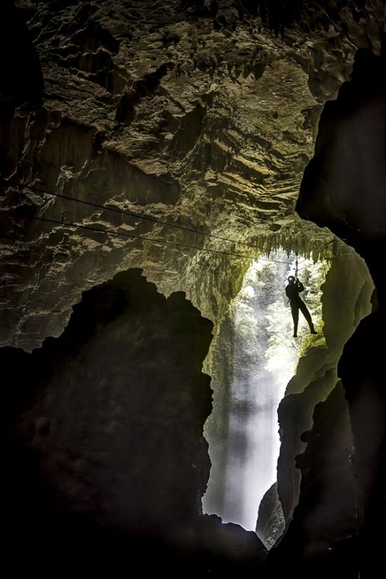 Adventurous Honeymoon Ziplining in Waitomo Caves New Zealand