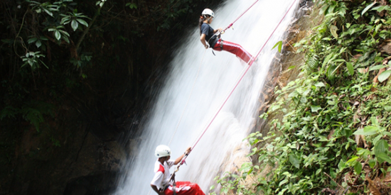 Adventurous Honeymoon Waterfall Abseiling in Malaysia