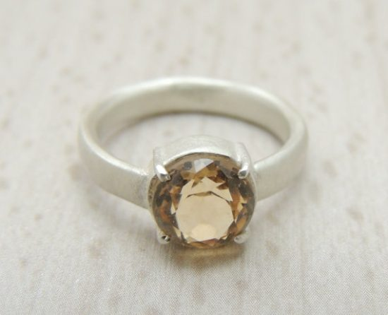 yellow topaz engagement ring