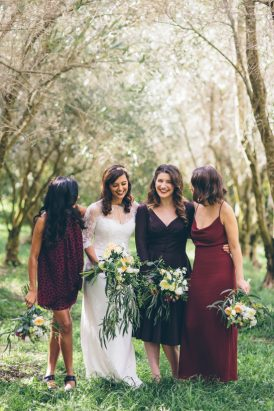 Mismatched amrsala bridesmaid dresses