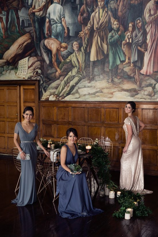 Modern Greenery With Jewel Tones Bridesmaid Inspiration028