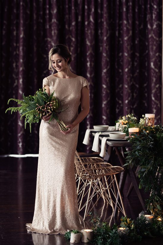 Modern Greenery With Jewel Tones Bridesmaid Inspiration033
